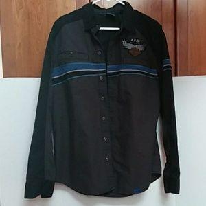 Harley-Davidson 115 Anniversary Vented Shirt EUC